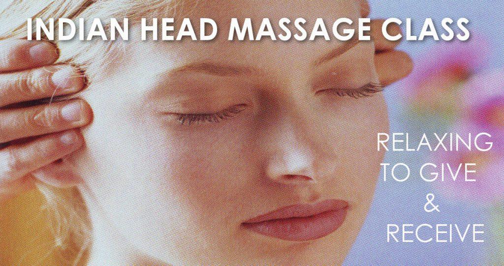 Indian Head Massage Class header