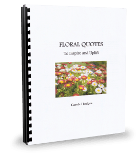 Floral Quotes binder