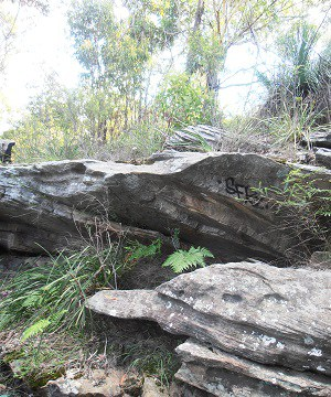 Rock formation at Salt Pan Creek