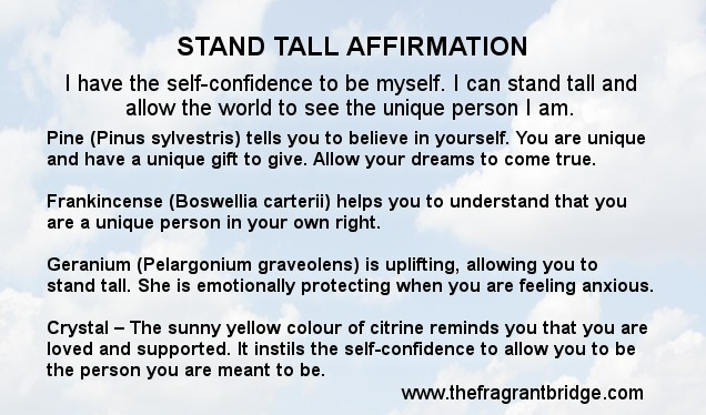 Stand Tall affirmation