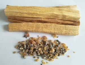 Palo Santo wood and resin