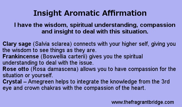 Insight aromatic affirmation